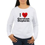 I Love German Shepherds Women's Long Sleeve T-Shir