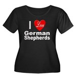 I Love German Shepherds (Front) Women's Plus Size