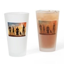 Guardians of the Galaxy Silhouette Drinking Glass