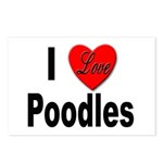 I Love Poodles Postcards (Package of 8)