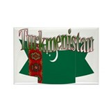 Turkmenistan flag ribbon Rectangle Magnet