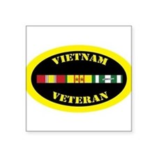 "Unique Vietnam veteran Square Sticker 3"" x 3"""