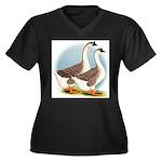 Goose and Gander Women's Plus Size V-Neck Dark T-S