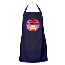 Personalized Name/Age Birthday Cake Pink Apron (da