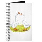 White Chinese Geese Journal