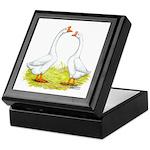 White Chinese Geese Keepsake Box