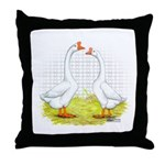 Chinese Goose and Gander Throw Pillow