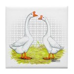 Chinese Goose and Gander Tile Coaster