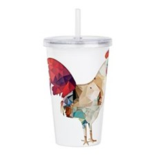 Unique Rooster Acrylic Double-wall Tumbler