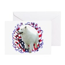 Samoyed Patriotic Greeting Cards (Pk of 10)