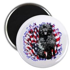 Water Dog Patriotic Magnet