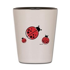 Ladybugs (red) Shot Glass