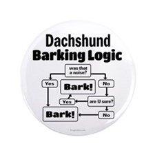 "Dachshund Logic 3.5"" Button"