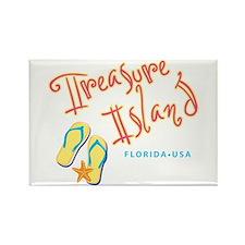 Treasure Island - Rectangle Magnet (10 pack)