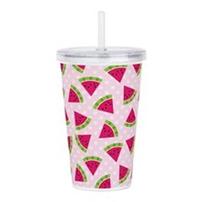 Cute Watermelon Dotted Acrylic Double-wall Tumbler