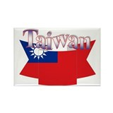 Taiwan flag ribbon Rectangle Magnet