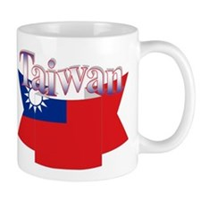 Taiwan flag ribbon Mug