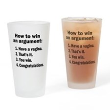 How To Win An Argument Drinking Glass