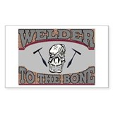 Welder Bone Rectangle Decal