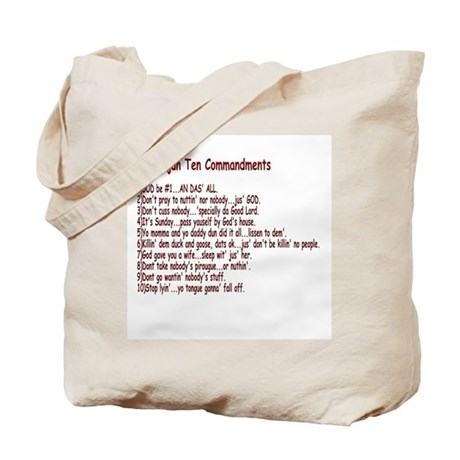 Cajun Ten Commandments Tote Bag