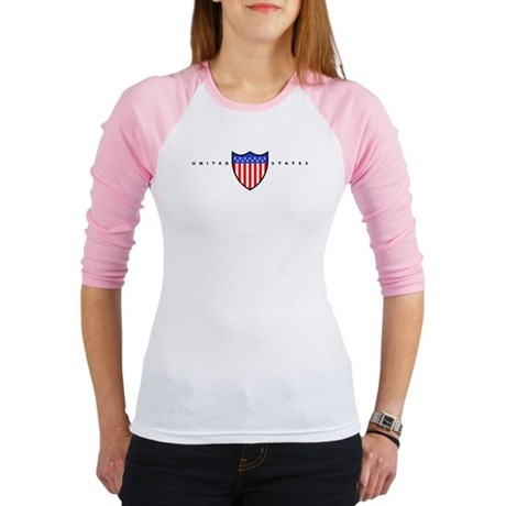 AMERICAN US FLAG SHIELD Jr. Raglan