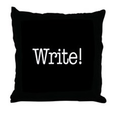 Write! Throw Pillow