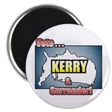 Vote Kerry & Surrender Magnet
