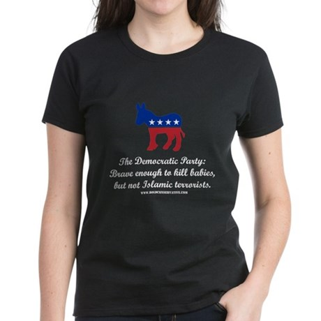Dems: Brave Enough Women's Dark T-Shirt