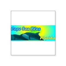 "Cute Beaches ocean Square Sticker 3"" x 3"""