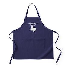 Everyone Loves A Texas Girl Apron (dark)