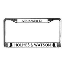 221b Baker St Holmes & Watson License Plate Fr