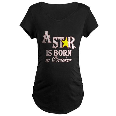 Due in October Maternity Dark T-Shirt