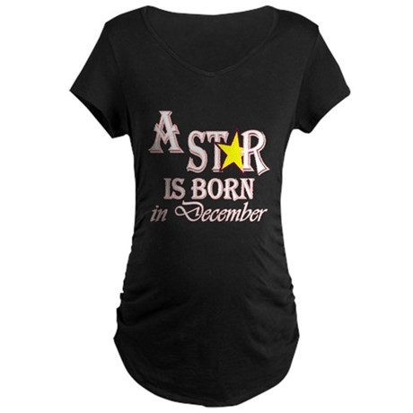 Due in December Maternity Dark T-Shirt