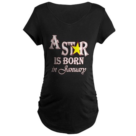 Due in January Maternity Dark T-Shirt