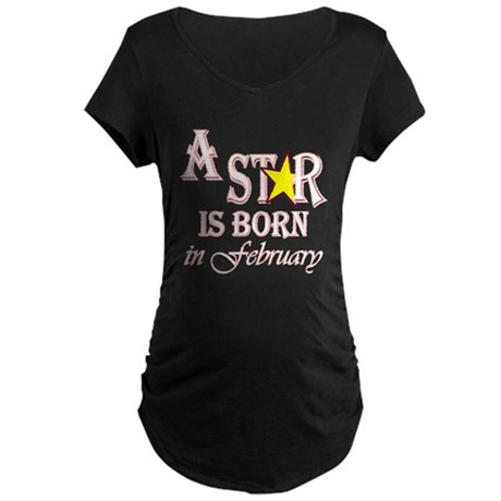 Due in February Maternity Dark T-Shirt