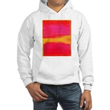 rothko pink & yellow on red Hoodie