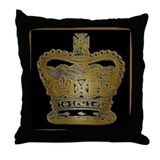 Royal Gold King's or Queen's Crown Throw Pillow