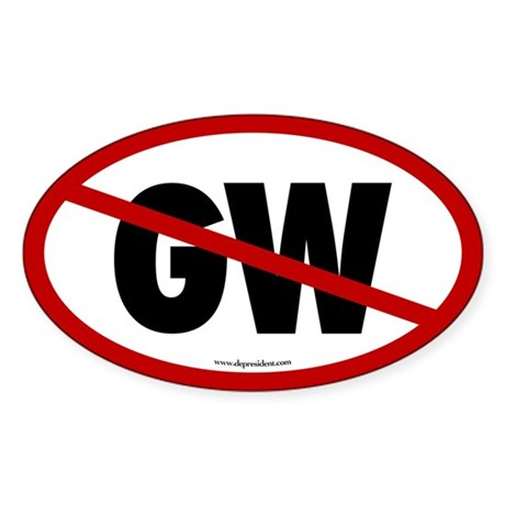 No More GW Oval Sticker