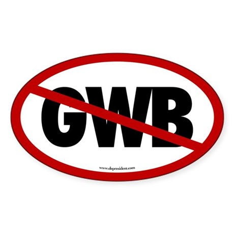 No GWB Oval Sticker