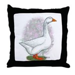 Embden Gander Throw Pillow