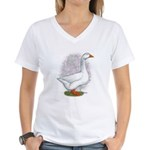 Embden Gander Women's V-Neck T-Shirt