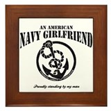 An American Navy Girlfriend Framed Tile