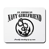 An American Navy Girlfriend Mousepad