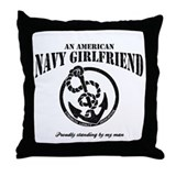 An American Navy Girlfriend Throw Pillow