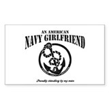 An American Navy Girlfriend Rectangle Decal