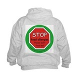 STOP food allergies Hoodie with back design