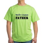World's Greatest FATHER Green T-Shirt