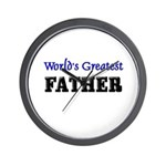 World's Greatest FATHER Wall Clock