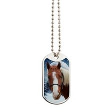 Paint Horse Winter Dog Tags