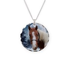 Paint Horse Winter Necklace